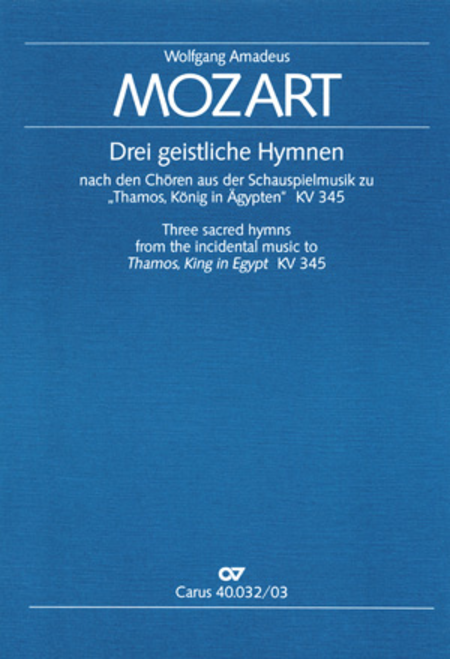 Drei geistliche Hymnen nach den