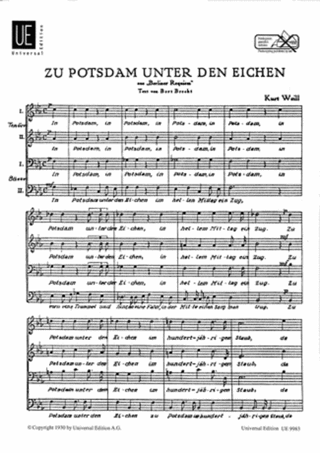 Zu Potsdam unter den Eichen
