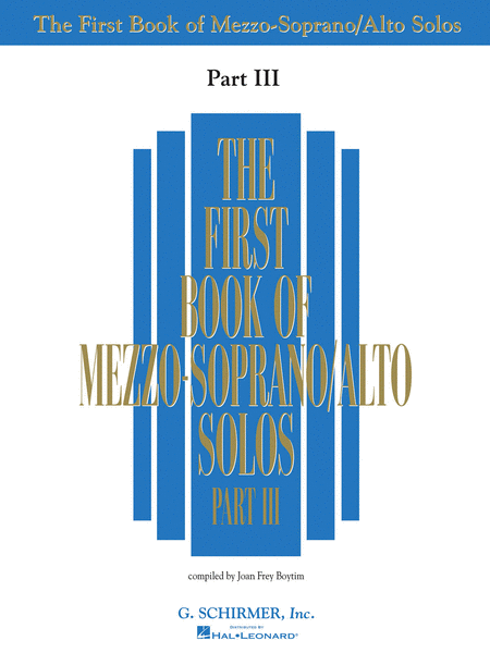 First Book of Mezzo-Soprano Solos - Part III