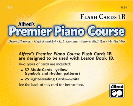 Alfred's Premier Piano Course: Flash Cards Level 1B