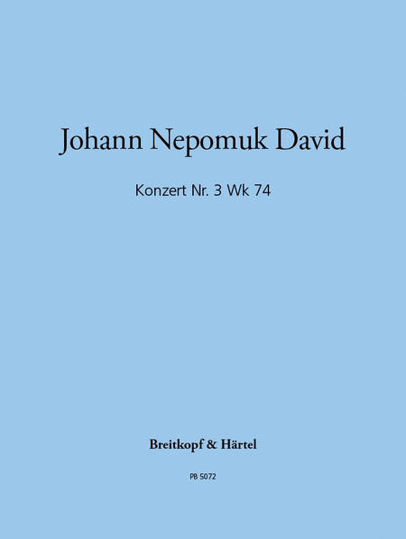 Konzert, Nr. 3 Wk 74