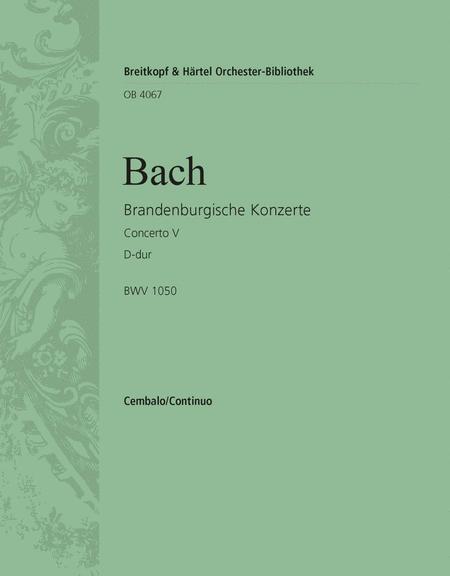 Brandenburgisches Konzert 5 D BWV1050
