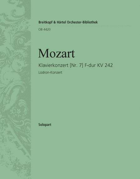 Klavierkonzert 7 F-dur KV 242