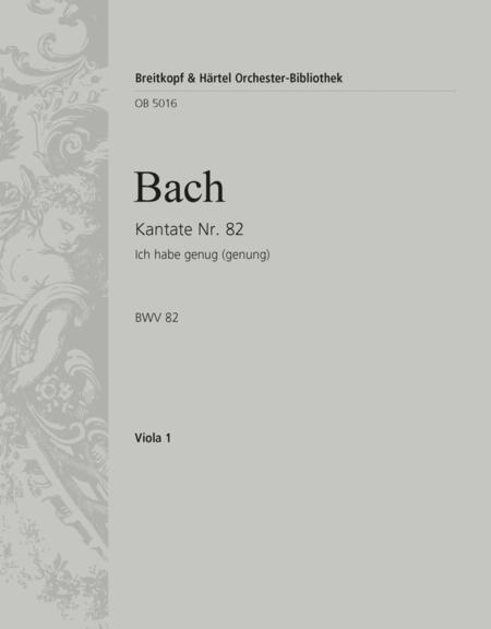 Kantate 82 (Fassung fur Sopran)