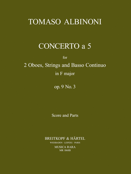 Concerto a 5 in F op. 9/3