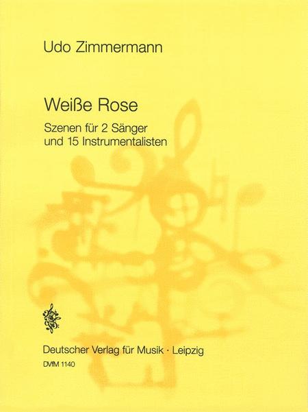 weisse rose sheet music by udo zimmermann sheet music plus. Black Bedroom Furniture Sets. Home Design Ideas