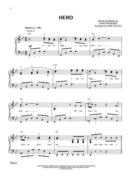 Hero - Easy Piano