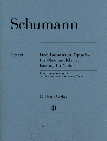 Three Romances, Op. 94 for Violin and Piano