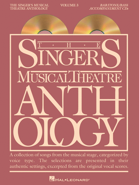 The Singer's Musical Theatre Anthology - Volume 3 - Baritone/Bass (CD only)