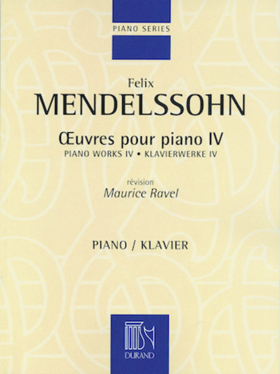 Piano Works IV