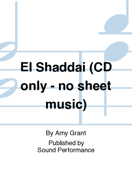 El Shaddai (CD only - no sheet music)