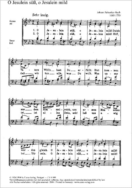 Bach: O Jesulein suss; Wessnitzer: Das ist ein sel'ge Stunde