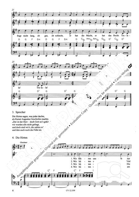 Singspiel zur Weihnachtsgeschichte