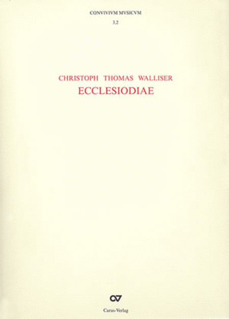 Ecclesiodiae (CONVIVIVM MVSICVM, Bande 3.1 und 3.2)
