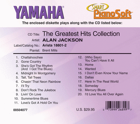 Alan Jackson - Greatest Hits Collection - Piano Software