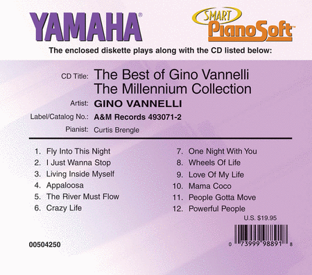 The Best of Gino Vannelli - The Millennium Collection - Piano Software