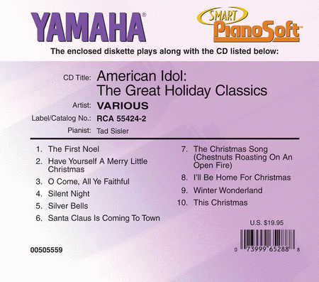 American Idol - The Great Holiday Classics - Piano Software