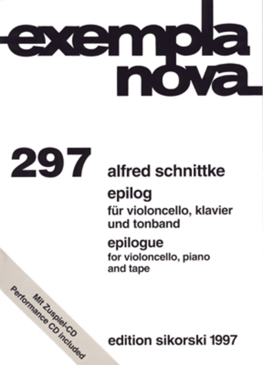 Epilog for Violoncello, Piano and Tape