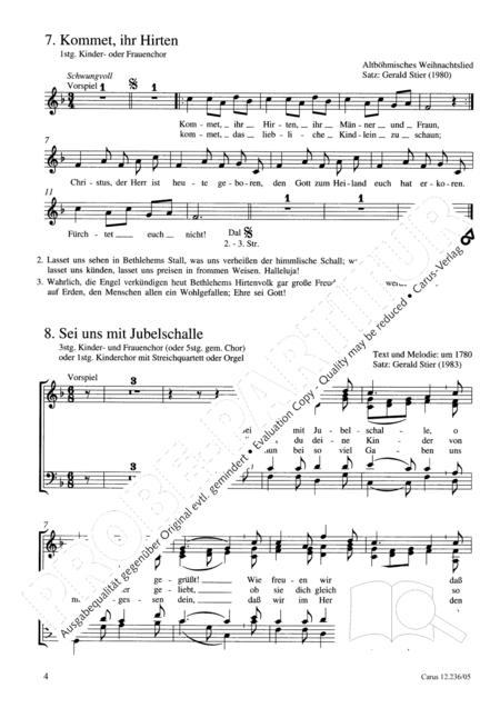Zehn Satze fur Kinderchor