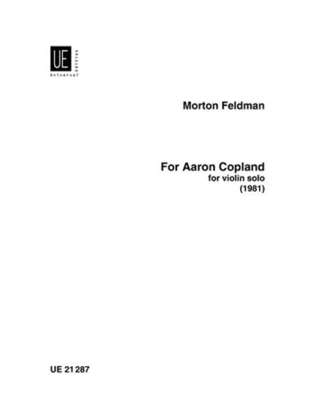 For Aaron Copland - Violin Solo
