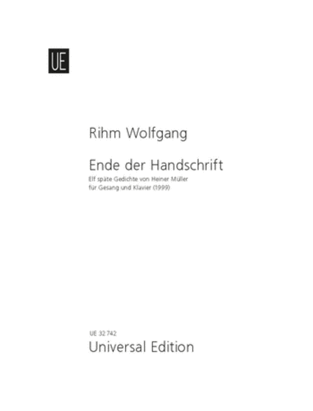 Ende Der Handscrift - Voc/Pn