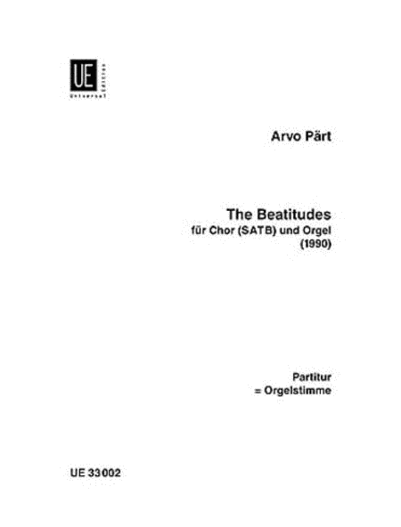 Beatitudes SATB-Org Sc