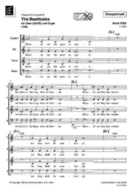 Beatitudes SATB - Choral Score