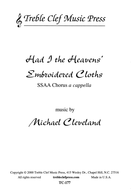 Had I the Heavens' Embroidered Cloths