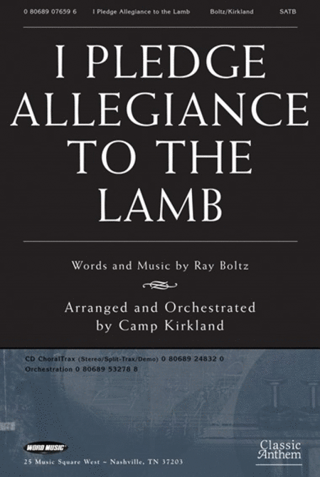 I Pledge Allegiance To The Lamb