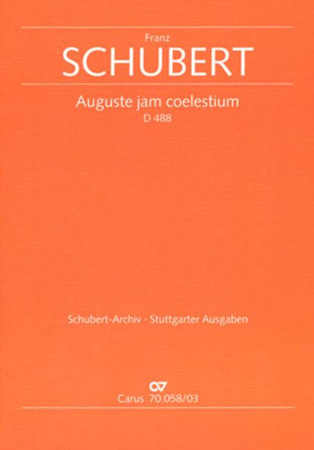 Auguste jam coelestium