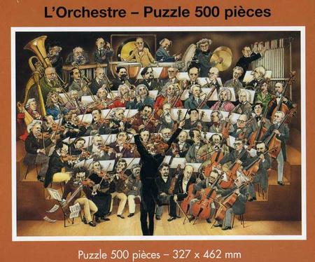 L'Orchestre - 500 piece jigsaw puzzle