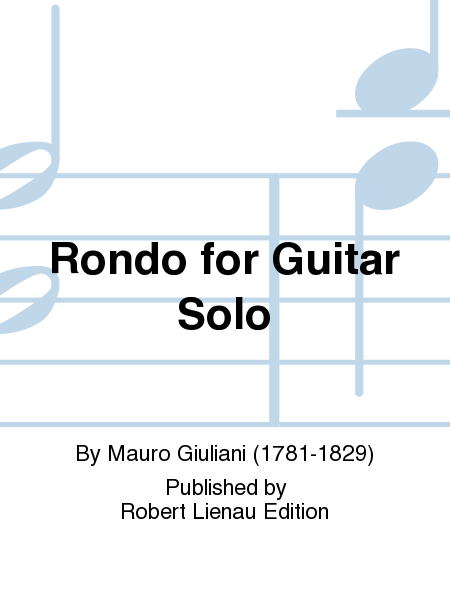 Rondo for Guitar Solo