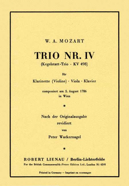 Kegelstatt Trio, KV 498