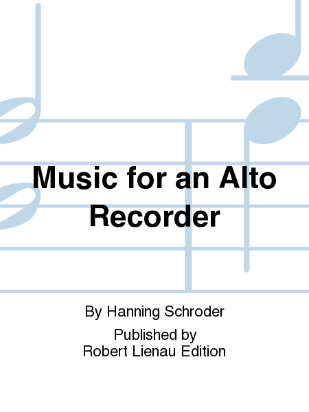 Music for an Alto Recorder