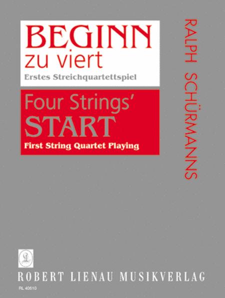Beginn zu Viert - First String Quartet Playing Book