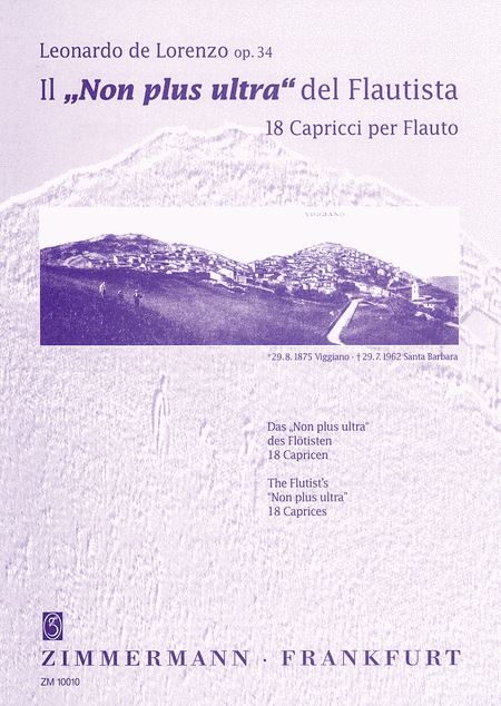The 'Non Plus Ultra' of Flutists Op.34