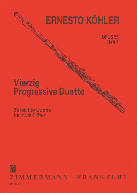 Progressive Flute Duets (40) Op. 55 Vol. 1