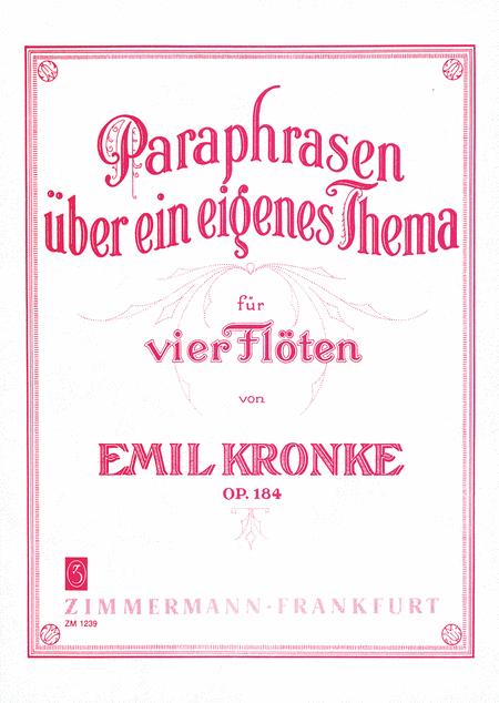 Paraphrases on an Original Theme Op. 184