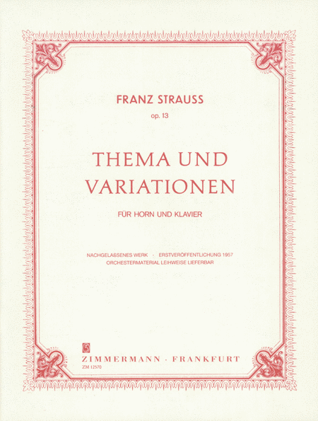 Theme and Variations Op. 13