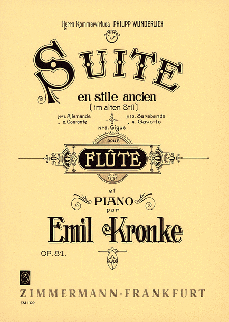 Suite in the Old Style Op. 81
