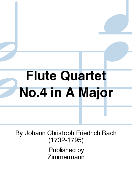 Flute Quartet No. 4 in A Major