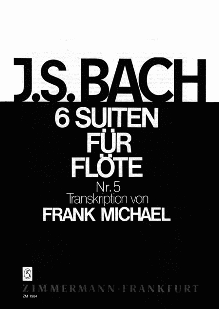Suite No. 5 in C Minor BWV1011