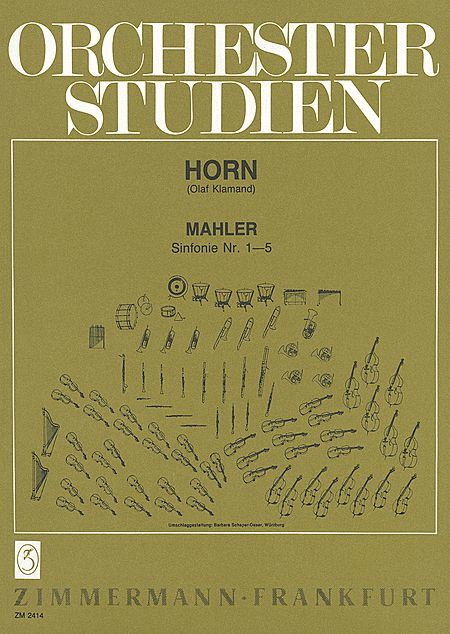 Orchestral Studies for Horn - Symphonies Nos .1-5