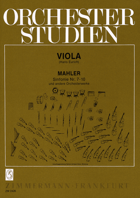 Orchestral Studies for Viola - Symphonies Nos. 7-10 and other works