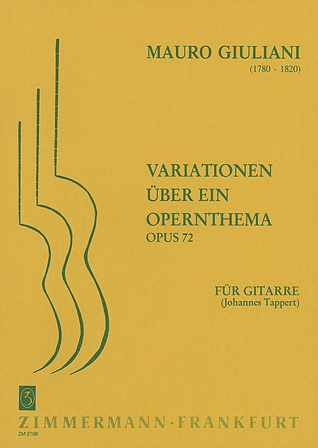 Variations on an Opera Theme Op. 72