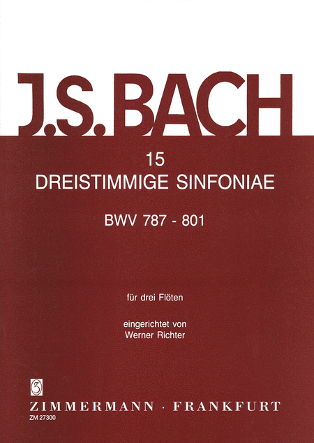 Three-part Sinfonias (15) BWV787-801