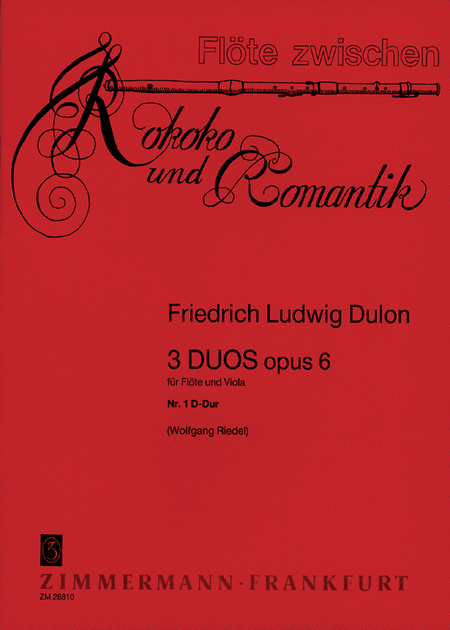 Duets (3) for Flute and Viola Op.6: No.1 in D Major