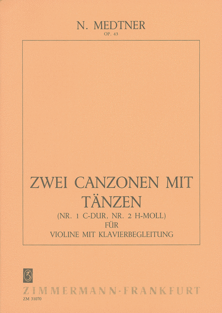 Two Canzonas with Dances Op.43
