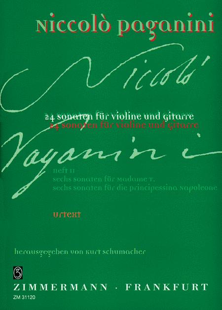 Sonatas (24) for Violin and Guitar, Book 2