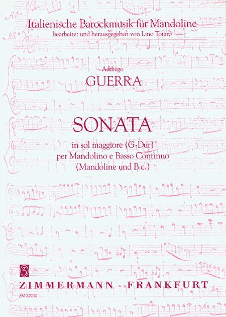 Sonata in G Major for Mandolin and Basso Continuo